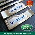 O envio gratuito de Aço Inoxidável do Peitoril Da Porta Scuff Limiar Soleira Da Porta Placa para LAND ROVER Range Rover EVOQUE EvoqueTop soleiras de porta