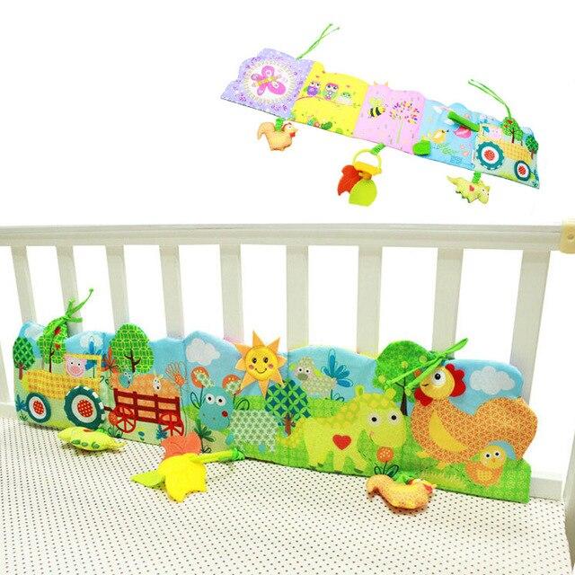 0-24 Monate Baby Bett Stoßstange Karton Tuch Buch Rüsche Weichen Wissen Spaß Und Bunte Krippe Stoßfänger Für Kinder Baby Bettwäsche Set