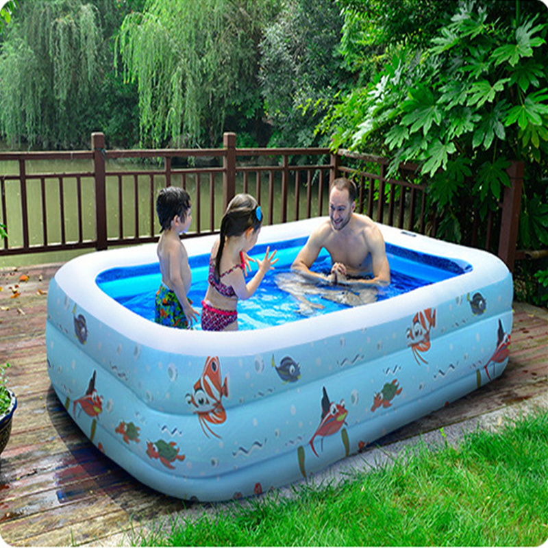 3 big size inflatable swimming water pool children home for Big outdoor pool