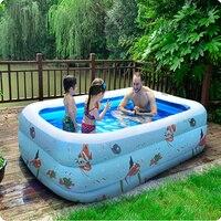 3 Große Größe Aufblasbare Schwimmwasser-pool Kinder Heimgebrauch Tragbare Badewanne Im Freien Spielplatz Zwembad Piscina Bebe