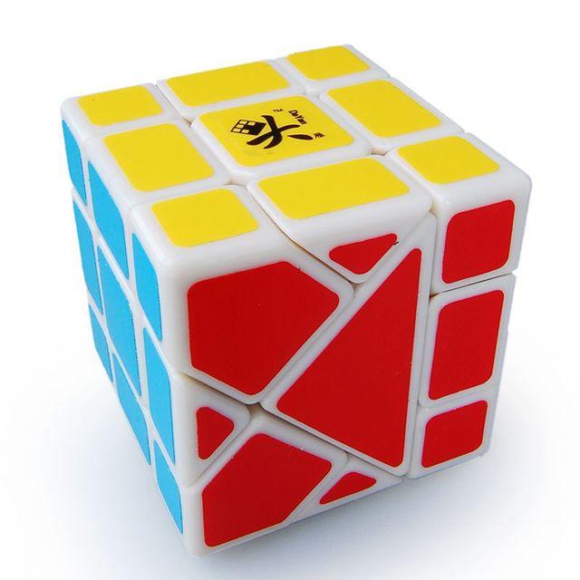 Dayan Bermuda De Plástico Terra Velocidade Magic Cube Branco Puzzle Cube Twisty Toy Educacionais para Crianças cubo magico Frete Grátis