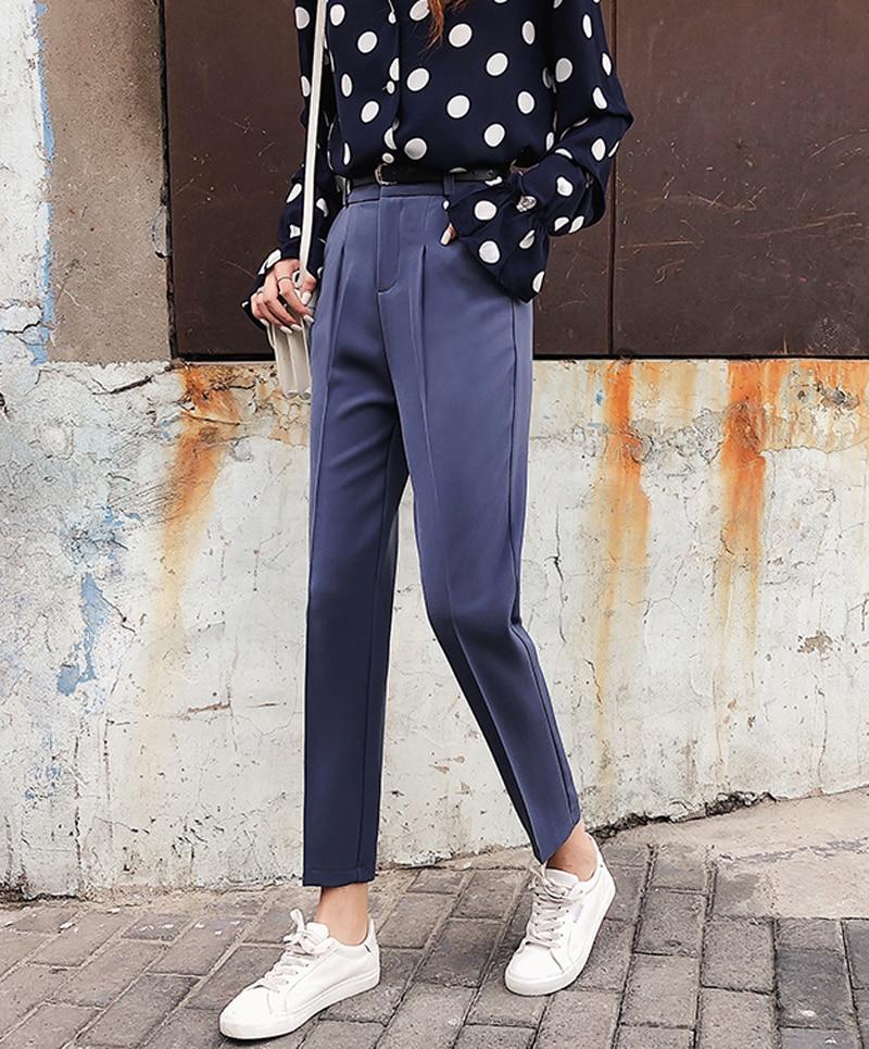 BGTEEVER OL Style White Women Pants Casual Sashes Pencil Pant High Waist Elegant Work Trousers Female Casual pantalon femme 8