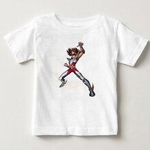 Gold Saint Seiyaเด็กอะนิเมะตลกพิมพ์Tเสื้อเด็กแขนสั้นเสื้อยืดเด็กการ์ตูนTเสื้อแบรนด์ที่มีชื่อเสียง