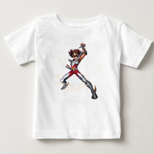 Gold Saint Seiya children  Anime Funny Printed T Shirt kids Short Sleeve T shirts with Cartoon boy T Shirt Brand Famous