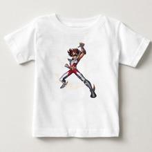 Gold Saint Seiya kinder Anime Lustige Gedruckt T Shirt kinder Kurzarm T shirts mit Cartoon jungen T Shirt Marke Berühmte