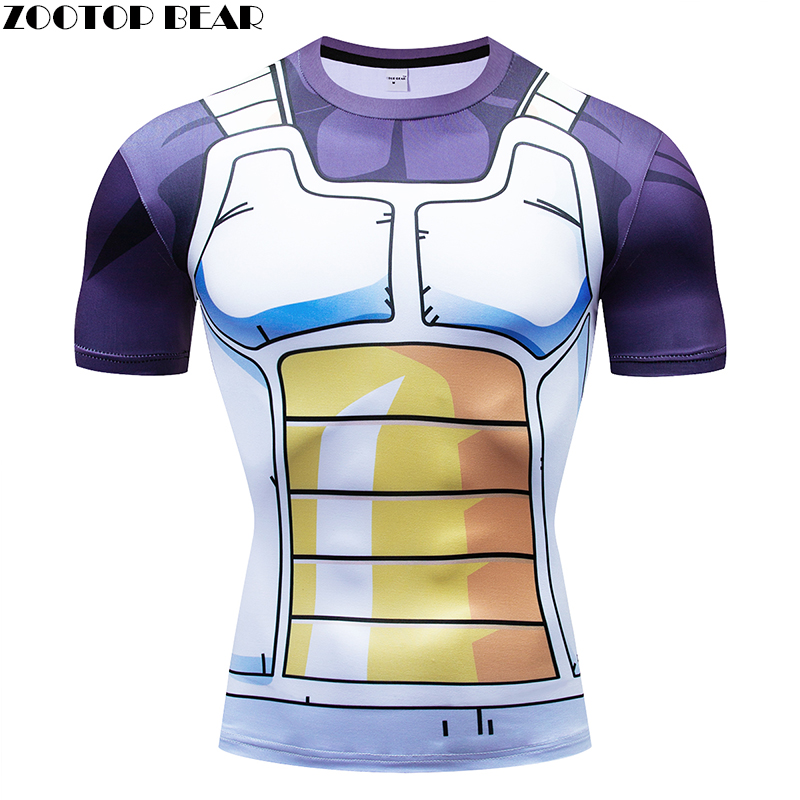 Dragon Ball t shirts Men Compression T-shirts 3d Short Sleeve Tops Tees Goku tshirts Fitness shirts Male Drop Ship ZOOTOP BEAR