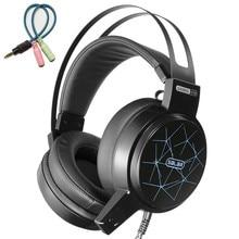 Ihens5 Salar C13 игровая стереогарнитура глубокий бас Игры наушники шлем геймер гарнитуры с микрофоном светодио дный свет для компьютера PC