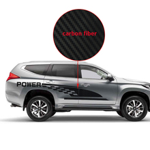 car stickers 2pc side body power grid styling graphic vinyl accessories decals custom for mitsubishi pajero sport