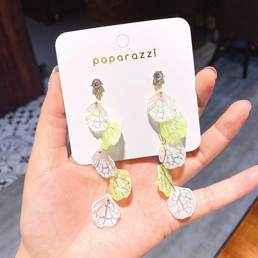 2019 New Korean S  Fairy Shell Earrings Female Temperament Long Tassel Women Fashion Jewelry Accessorie