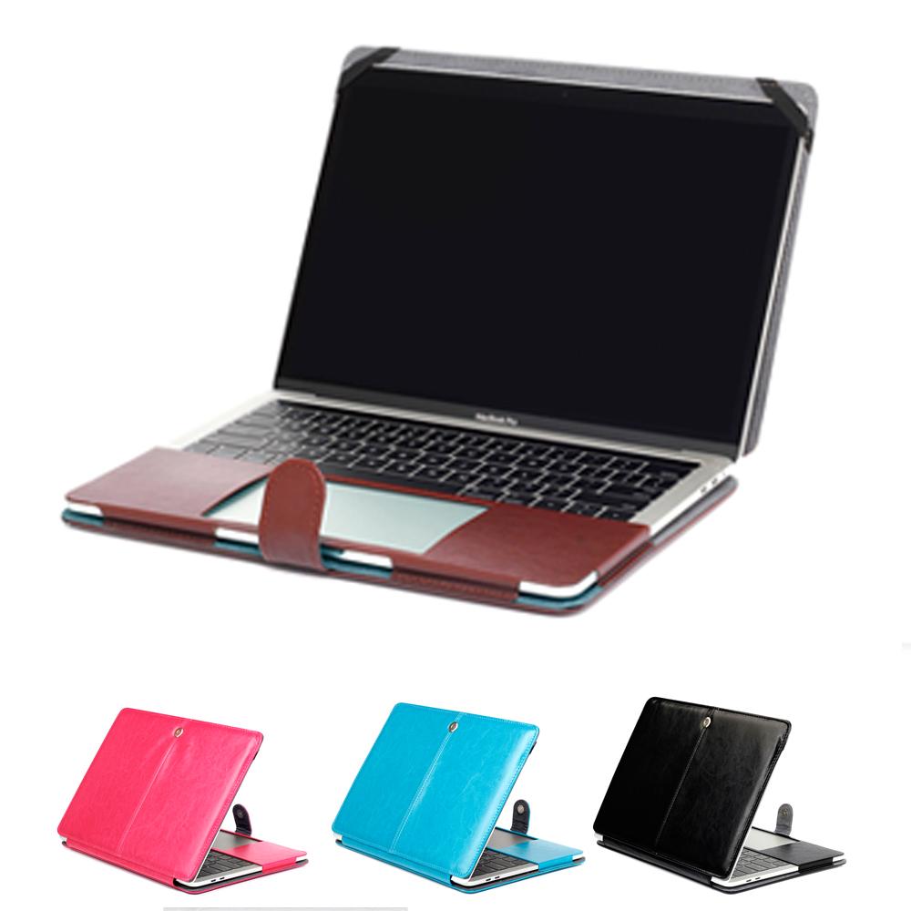 Prix pour 2016 nouveau magnétique étui pu sac en cuir cas pour macbook pro 13 avec Tactile Bar A1706 et sans Tactile Bar A1708 Stand couverture