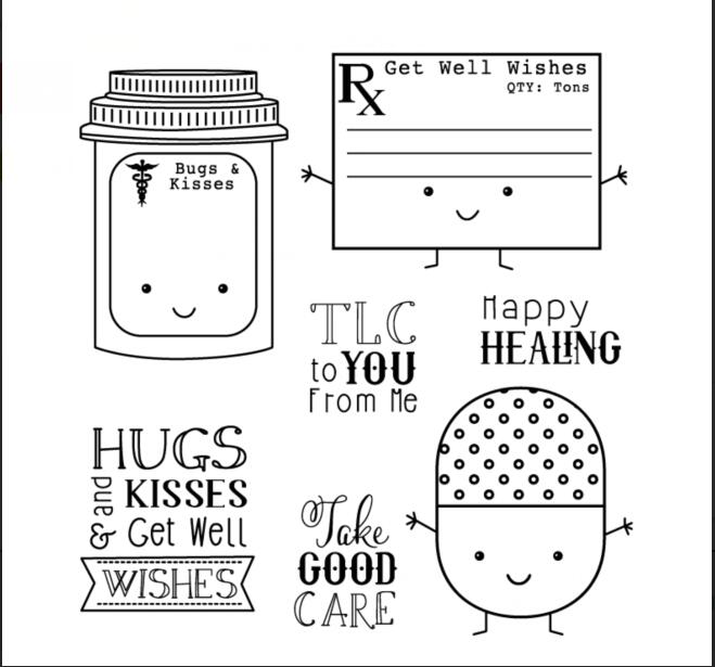 Cartoon pills Transparent Clear Silicone Stamp/Seal for