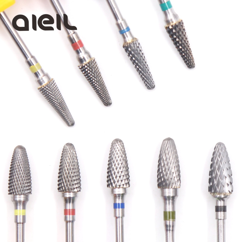 Tungsten Carbide Milling Cutter Burrs Nail Drill Bits Machine Nail Cutter Nail File Manicure For Manicure Nail Art Accessories-in Electric Manicure Drills from Beauty & Health