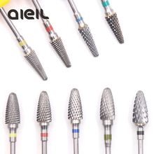 Tungsten Carbide Milling Cutter Burrs Nail Drill Bits Machine Nail Cutter Nail File Manicure For Manicure Nail Art Accessories(China)