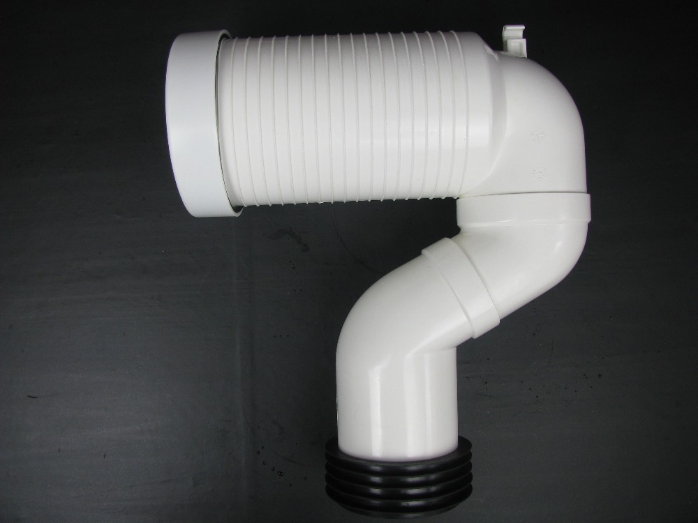 New universal pan connector bent waste pipe for concealed