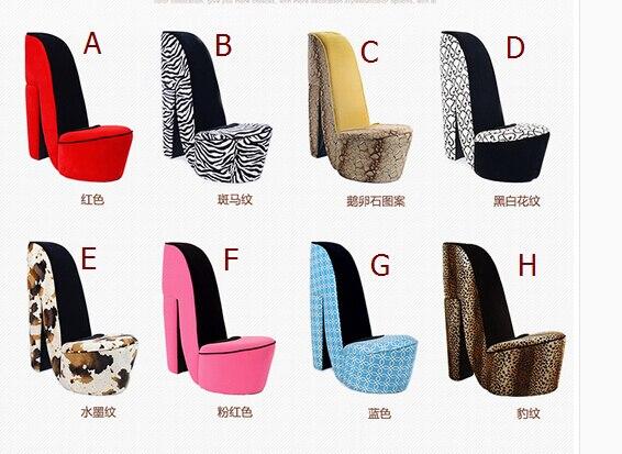 Купить с кэшбэком Creative high heels art lazy sofa. Chair. Clothing shoe store the living room. A single cloth art sofa