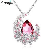 ANNGILL Exquisite Long Charm Necklace Wholesale Genuine Crystals From Swarovski Newest Fashion Collar Necklaces Jewelry