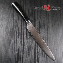 8 Inch Slicing/Carving Knife 67 Layers Japanese Damascus Stainless Steel VG-10 Core Kitchen Knives Sashimi Sushi Chef Knife