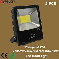 Luz de Inundação LEVOU 20 W 30 W IP65 50 W 100 W 150 W Spotlight Lamp Gardden Rua Ao Ar Livre À Prova D' Água holofote de iluminação 220 V 110 V|led light led|led light|floodlight 220v -