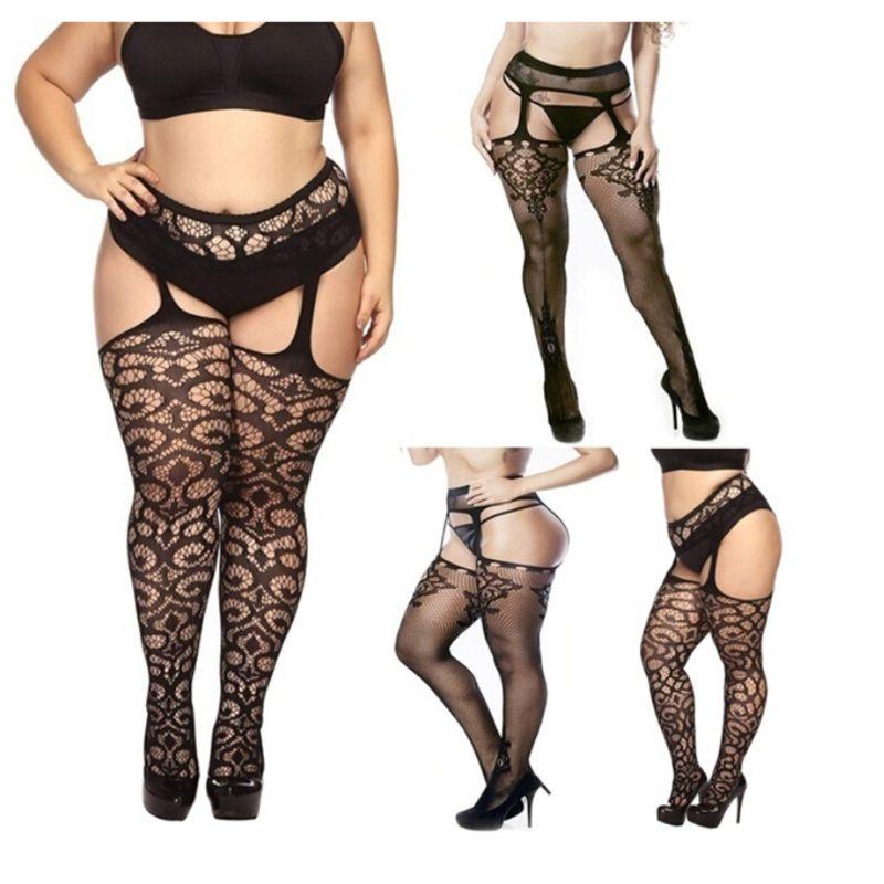 5 Styles Fashion Women Suspender Pantyhose Tights Plus Size Stockings