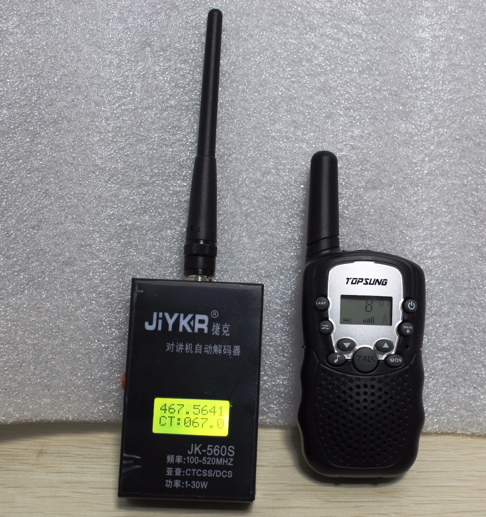 Portable Frequency Counter Meter 100MHz-520Mhz CTCSS/DCS Decoder Output Power Decoder For Analog Walkie Talkie T-388 UHF VHF