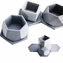 Big Cement Mold Handamde Silicone flowerpot molds for Home Gardening Succulent plants Diamond Shape Clay Pot mould(China)