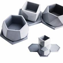 Big Cement Mold Handamde Silicone flowerpot molds