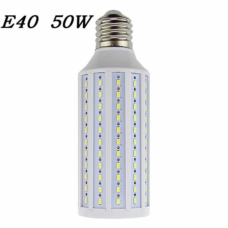 E39 E40 LED Corn Light 50W 165 Cree Chip 5730 SMD Lamp 110V/220V Outdoor street lighting Cold Warm white Bulbs Spotlight Lampada 3pcs lot 50w led street light outdoor light road lamp 12v 110v 120v 220v 230v 240v warm cool white euqal 1200w halogen lamp