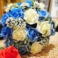 Дешевые 4 цвет роуз свадебные букеты красивые розы свадебные букеты люкс для невесты цветок искусственный имитировать букет роз