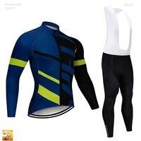 2019 Pro UCI Team Men Custom Cycling Clothing Long Sets Green Bicycle Jersey Cycling Clothing Set Ciclismo 16D Gel Bib Pants