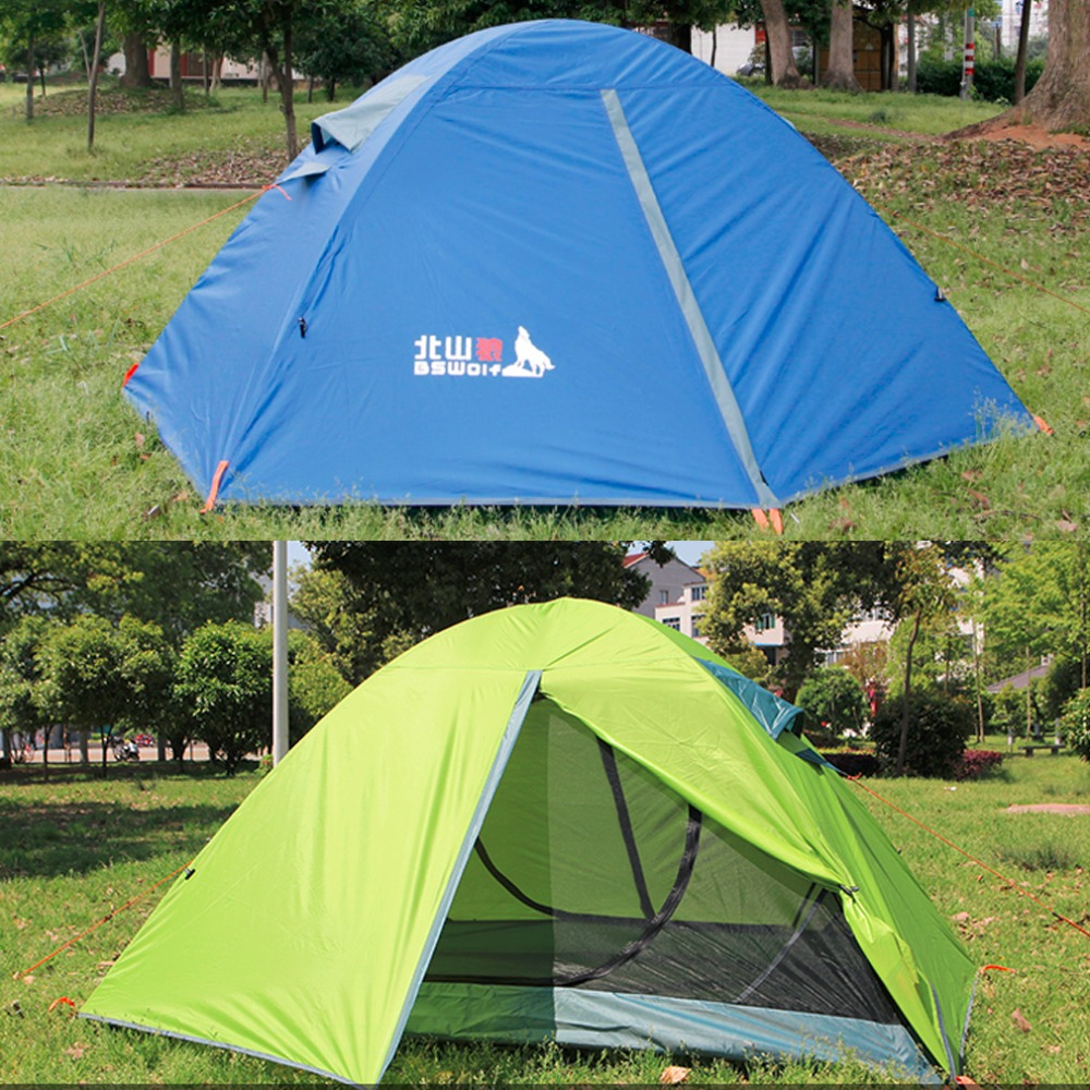 ФОТО 2016 New Camping Tent Waterproof Hiking Outdoor Hunting Double Layer For 2 Person Wholesale