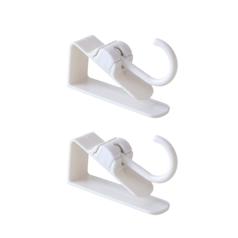 2x Over Door Hooks Rotatable Hanging Holder Storage Hook Organizer Bathroom Kitchen Cabinet Cloth Towel Bag Hanger Space Saving