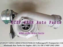 GT2052V 720931 720931-0004 720931-0002 070145702A Turbo Turbocharger For Volkswagen VW T5 Transporter 2002-04 AXE 2.5L TDI 174HP