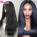 7A Human Hair Full Lace Wigs Yaki Unprocess 4x4 Silk Base Lace Front Wigs 150% Density For Black Women Virgin Full Lace Wigs