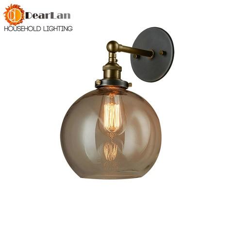vintage moderno breve cabeceira vidro da lampada