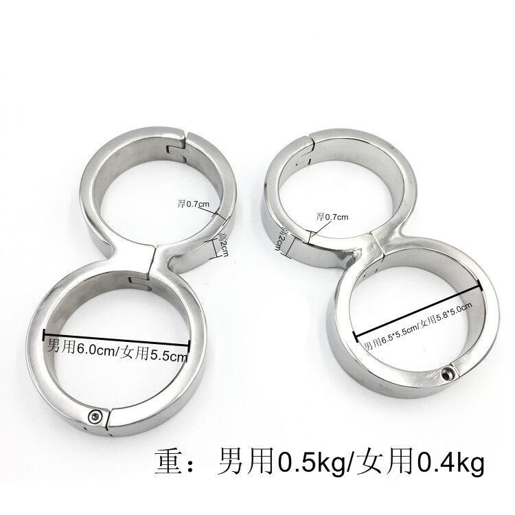 Bandage Restraint Handcuffs for sex Fetish Stainless Steel Bondage 8font gourd Handcuff Adult Game Sex Products Harness Sex Toys