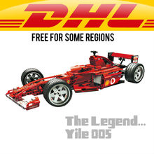 Lengend: Yile 005 F1 Racer 1:10 Blocs 8386 lepin technique briques 8386 action figure jouets de voiture pour enfants Decool 3335