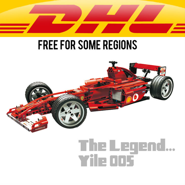 Lengend: Yile 005 F1 Racer 1:10 Building Blocks 8386 technic bricks 8386 action figure car toys for children Decools 3335