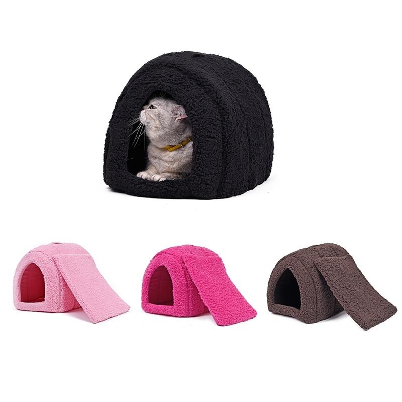 PAWZRoad 여름 고양이 침대 애완 동물 사육장 사랑스러운 새끼 고양이 홈 강아지 쿠션 매트 동물을위한 애완 동물 제품을 운반하기 쉬운 물건