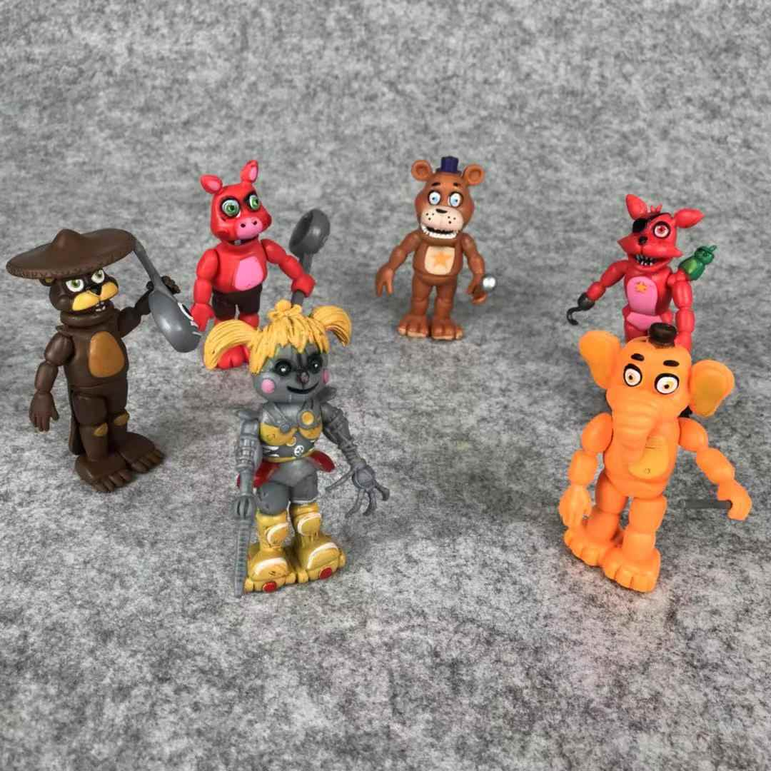 Five Nights At Freddys Ultimate Custom Night Action Figure FNAF 6 Style Toy  Figure Animation Peripheral Game Doll