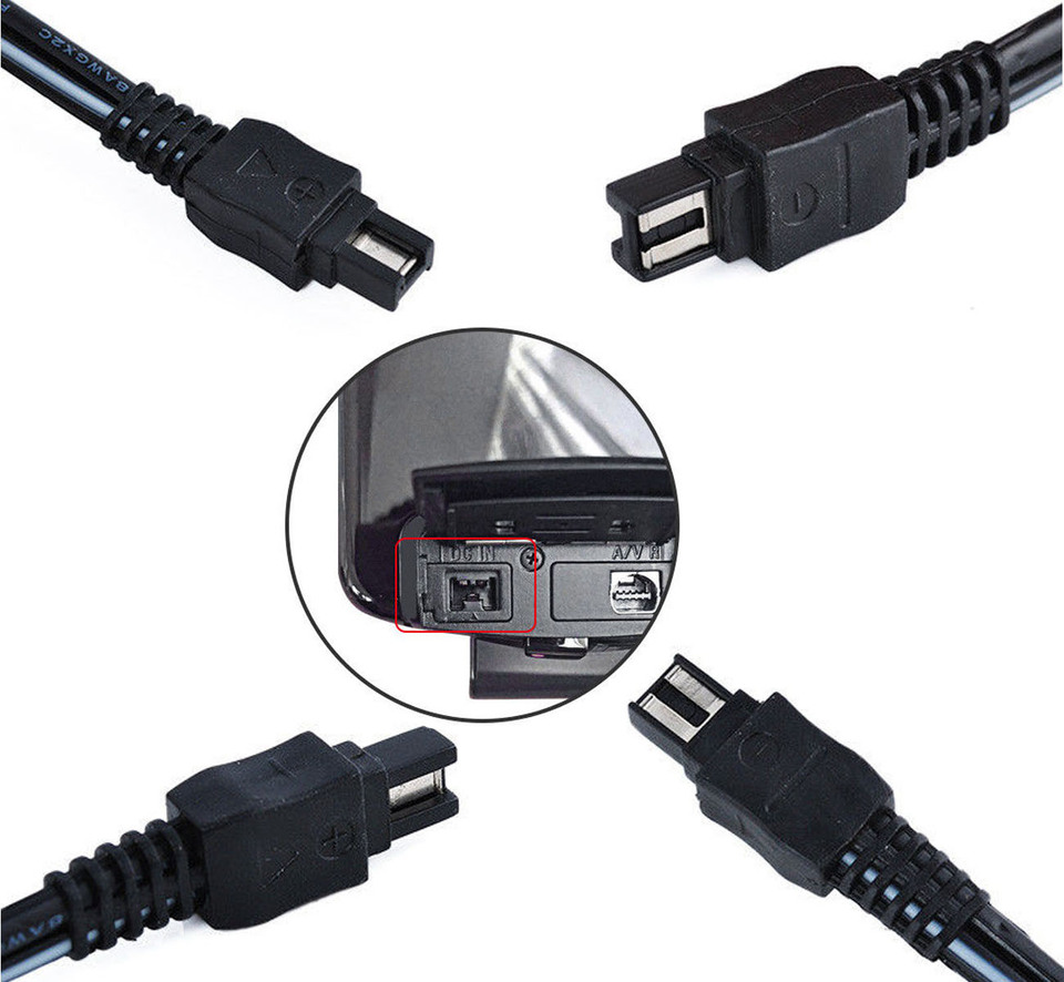 USB Power Adapter Charger for Sony DCR-HC62E DCR-HC96E DCR-HC94E DCR-HC85E DCR-HC65E DCR-HC90E DCR-HC1000E Handycam Camcorder