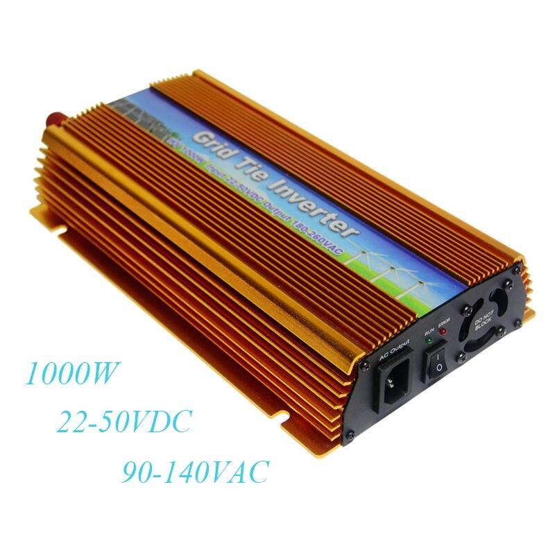 цена на MAYLAR@ 22-50VDC 1000W Solar Grid Tie Inverter with MPPT AC 90-140V 50hz/60hz Pure Sine Wave Power Voltage Transformer Converter