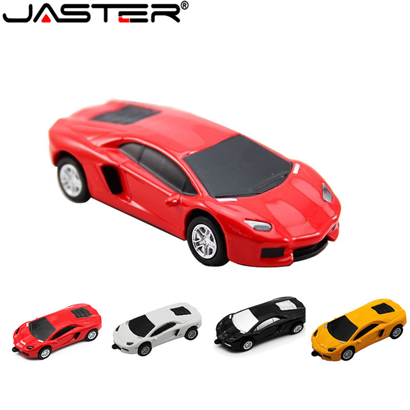 JASTER Fashion Hot Selling Metal Car Model External Storage Memory Stick USB 2.0 4GB 8GB 16BG 32GB 64GB USB Flash Drive