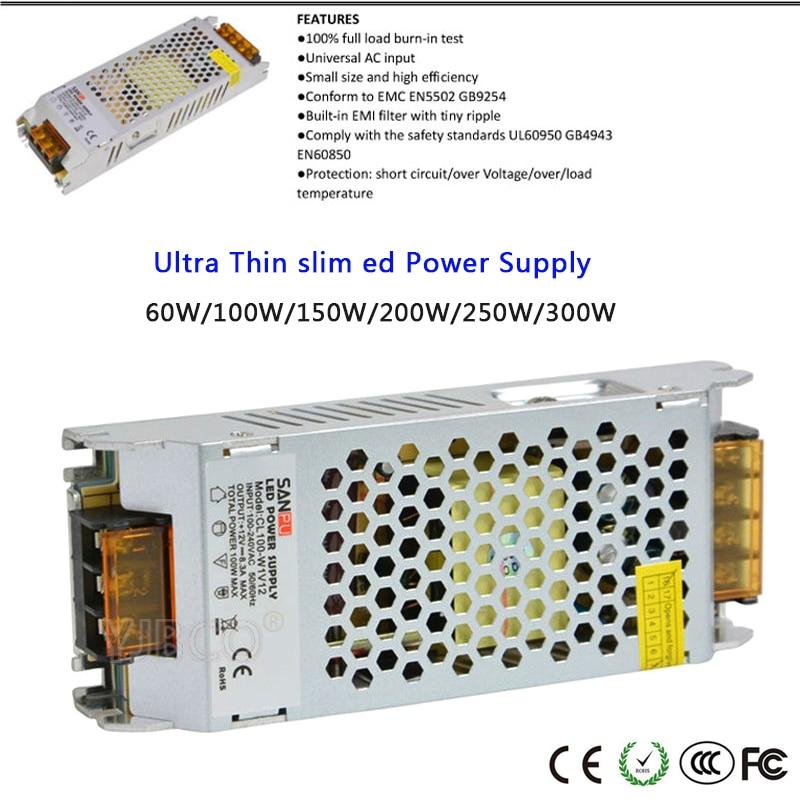 Shenzhen SANPU Power Supply 12 Volt 5 Amp 60 Watt LED Driver AC-DC Lighting Transformer SMPS Aluminum Case for Indoor LEDs Strip SANPU CL60-W1V12