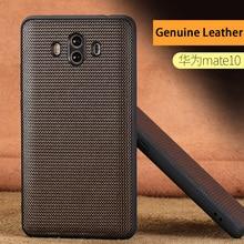 wangcangli Genuine Leather Phone Case For HUAWEI Mate 9 10 Pro Diamond Texture Back Cover Huawei P10 P20 Nova 2S Plus Cases