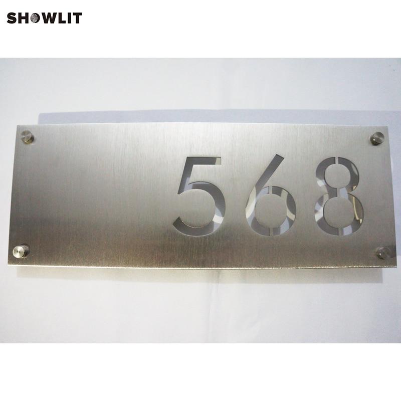 Design Laser Cutting Stainless Steel Office Address Plaque все цены