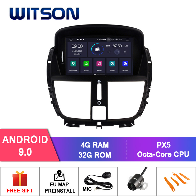 WITSON Android 9 0 Octa core Eight core 4G RAM CAR DVD GPS For PEUGEOT 207