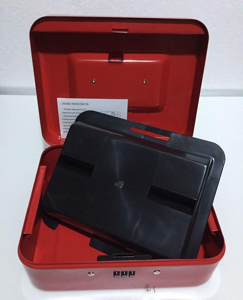 20CM*16CM*9CM Password Steel Safe Boxes Store Content Box Paper Piggy Small Change Bank Card Document Boxes