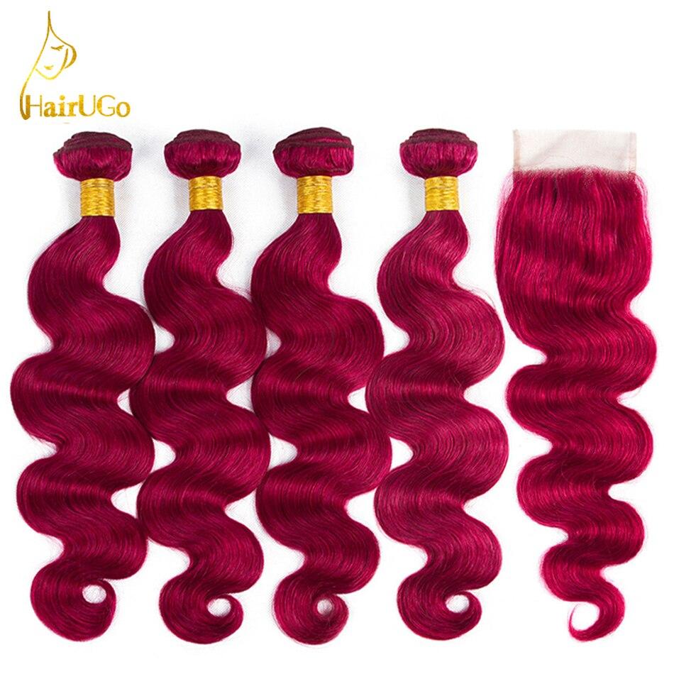 Hairugo Hair Pre Colored Peruvian Body Wave Bundles Hair