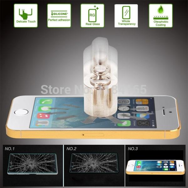 bilder für 10 teile/los 9 h 2.5d qualität explosionsgeschützte gehärtetem glas film für iphone 5 5 s 5c displayschutz pelicula de vidro