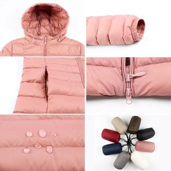 Matt Fabric 5XL 6XL Plus Long Down Jacket Women Winter Ultra Light Down Jacket Women With Hooded Down Coat Female Big Size Coats 5